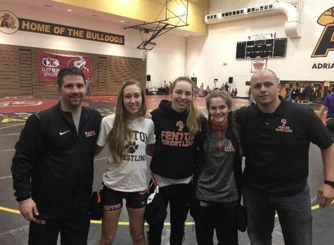 Fenton wrestlers compete in first ever girls state championship