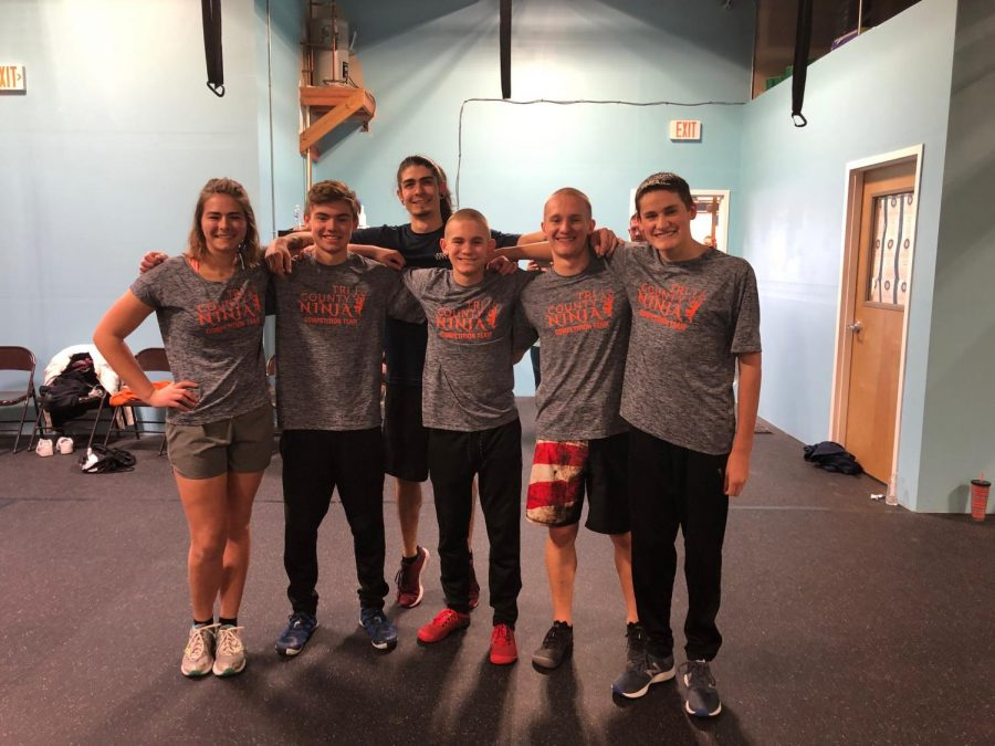 Tri County Ninja coaches from left: Caitlyn Dailey, Peyton Stapp, Manager Daniel, Josh Maier, Noah Maier and Jack Killian.