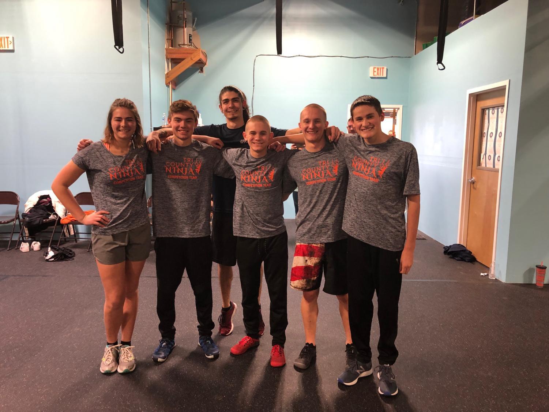 Tri County Ninja coaches from left: Caitlyn Dailey, Peyton Stapp, Manager Daniel, Josh Maier, Noah Maier and Jack Killian.
