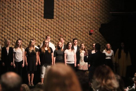 The ambassadors perform at the International Baccalaureate ceremony on May 31.