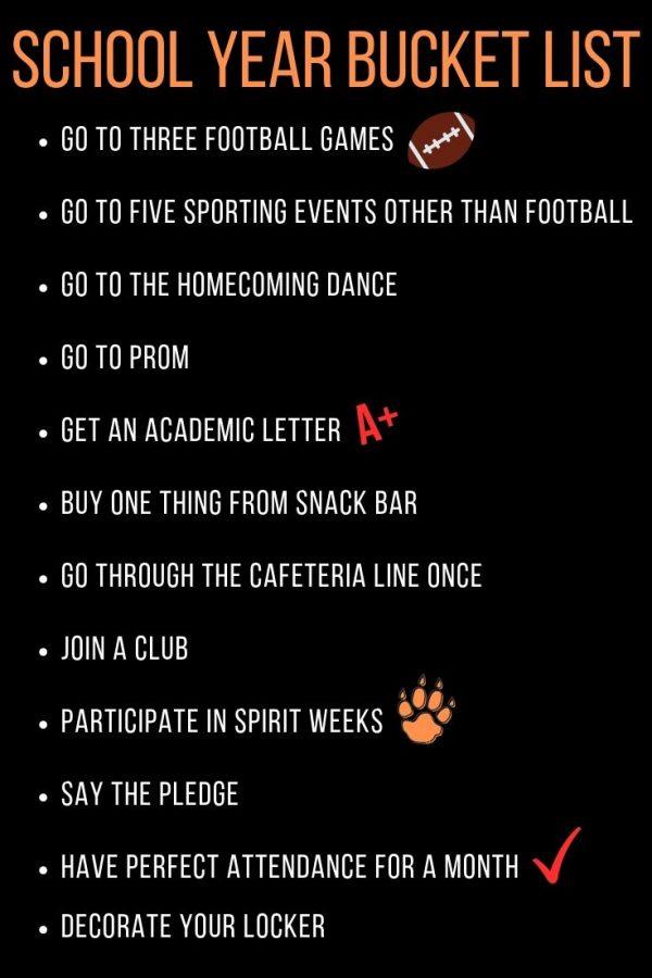 School bucket list for a great year
