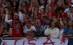 Student section leaders keep the crowd rowdy