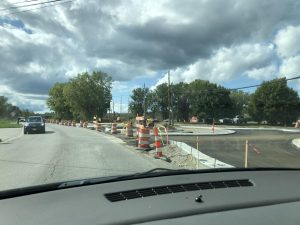 Roundabout construction begins on Torrey/North road intersection