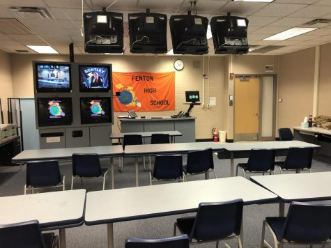 Looking inside of the GenNET room, this is  where students can take the classes American Sign Language and AP Calculus.