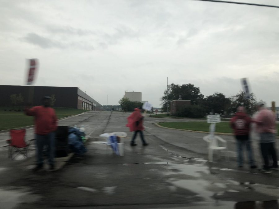 UAW Workers strike near Flint, Michigan.