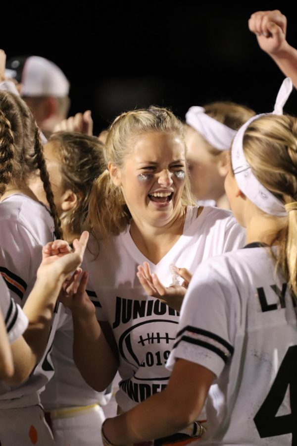 The seniors won the annual powder puff game, junior Brook Herbstreit questions the validity of the game. Herbstreit and her friends then sat with their coach and celebrated, and thought about what they could do to win next year.