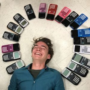 Sophomore Chase Gibson wins TI Calculator challenge