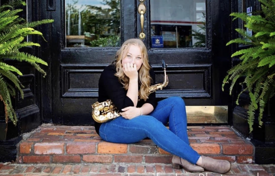 """I have been playing the alto saxophone since sixth grade, as well as ukulele, and soprano and bari sax. Once I started taking lessons in 8th grade, I just fell in love with music and wanted to be as involved as possible. Being in the band gave me a home in the high school and a supportive community I knew I could be myself in. I plan on marching at Western Michigan University in the fall and hope to join additional music groups throughout my college career. My advice to anyone entering the program is to take every opportunity to look for the positives and appreciate everything it has to offer. My fondest memories come from the music program, and it really is over before you know it."" - senior Reese Strawsburg"