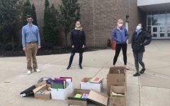 The Environmental Club's school supplies drive