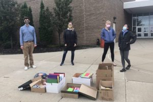 The Environmental Club's school supplies drive
