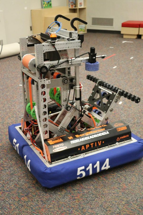 The robotics team has spent a lot of time creating and assembling this robot.
