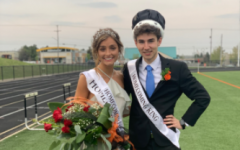 Seniors Taylor Farrell and Brody Stack are crowned Homecoming King and Queen